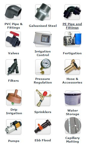 Irrigation Component Icons